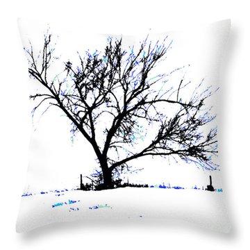 Meredith Blue Throw Pillow by Renie Rutten