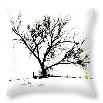 Meredith Green Throw Pillow by Renie Rutten