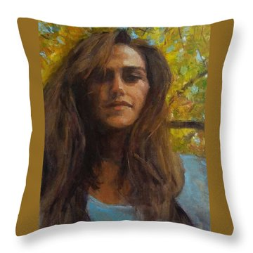 Meredith In Autumn Throw Pillow by Brian Kardell