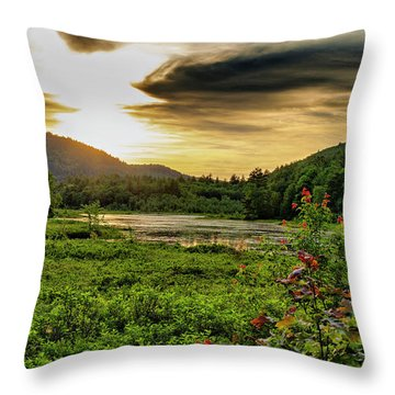 Throw Pillow featuring the photograph Meredith Pond Sunset by Betty Pauwels