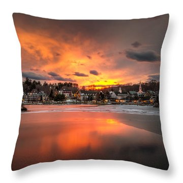 Meredith Sunset Throw Pillow by Robert Clifford