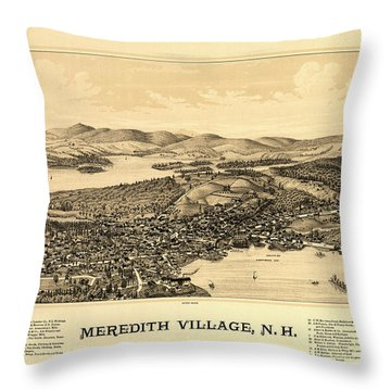 Meredith Village, N.h. Throw Pillow