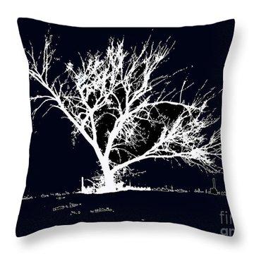 Meredith White Throw Pillow by Renie Rutten