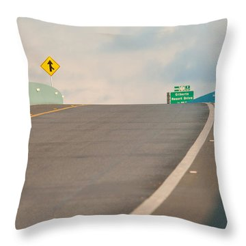Merge To The Clouds Throw Pillow