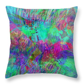 Merged 1 Throw Pillow