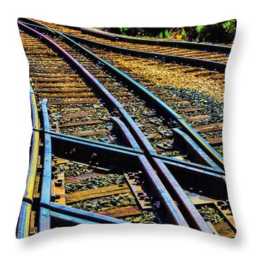 Railroad Tie Throw Pillows