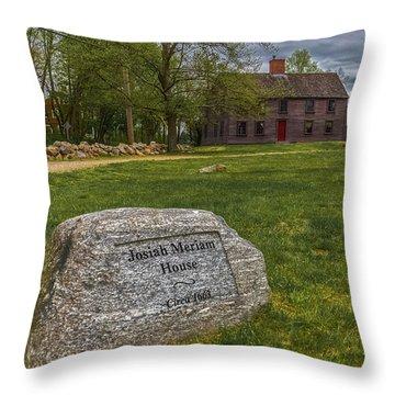 Meriams Corner, Minute Man National Park Throw Pillow