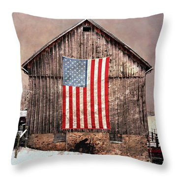 Merica Throw Pillow