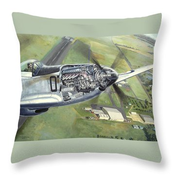 Merlin Magic Over Scone Throw Pillow