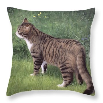 Merlin Portrait Throw Pillow