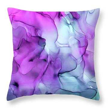Mermaid Abstract Ink Painting Throw Pillow