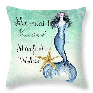 Mermaid Kisses Throw Pillow