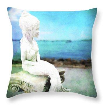 Mermaid Lisa Throw Pillow