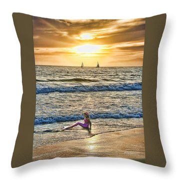 Mermaid Of Venice Throw Pillow by Michael Cleere