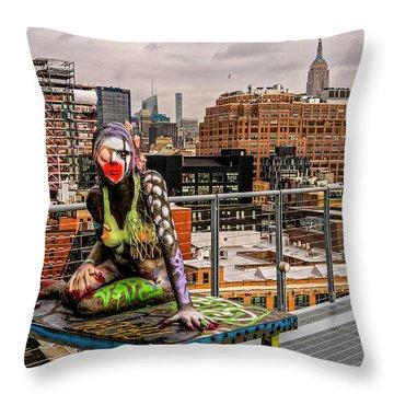 Mermaid On The Whitney Throw Pillow