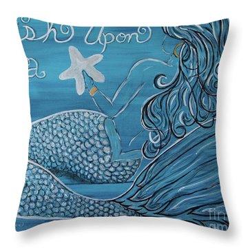 Mermaid- Wish Upon A Starfish Throw Pillow