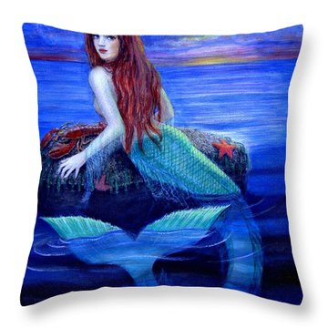 Mermaid's Dinner Throw Pillow