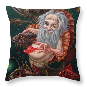 Merman Throw Pillow
