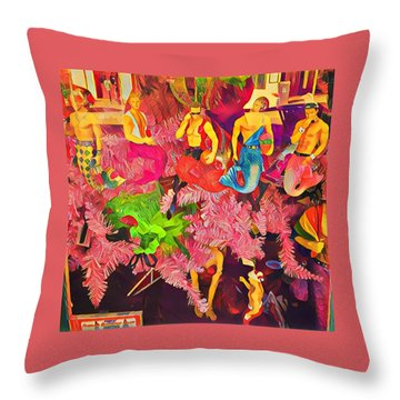 Mermen Throw Pillow