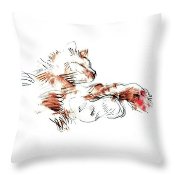 Merph Chillin' - Pet Portrait Throw Pillow