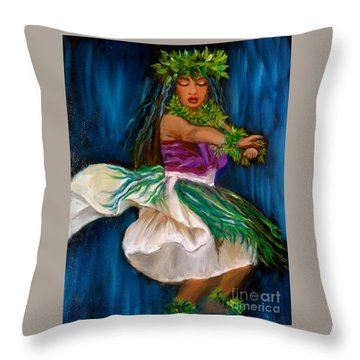 Merrie Monarch Hula Throw Pillow