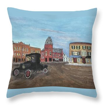 Old New England Town Throw Pillow