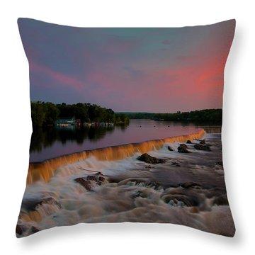Merrimack River Falls Throw Pillow