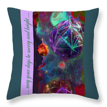 Merry And Bright Holidays Throw Pillow