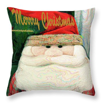 Merry Christmas Art 23 Throw Pillow