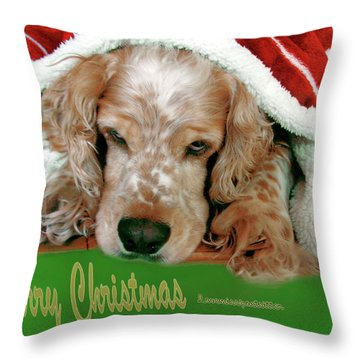 Merry Christmas Art 32 Throw Pillow