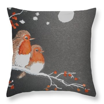 Merry Christmas Throw Pillow by Carole Robins