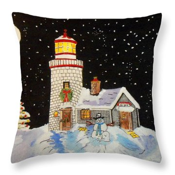 Merry Christmas  Throw Pillow by Connie Valasco