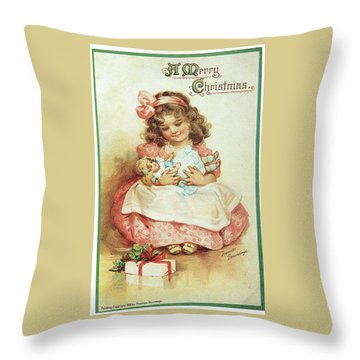 Merry Christmas For My Dolly Throw Pillow