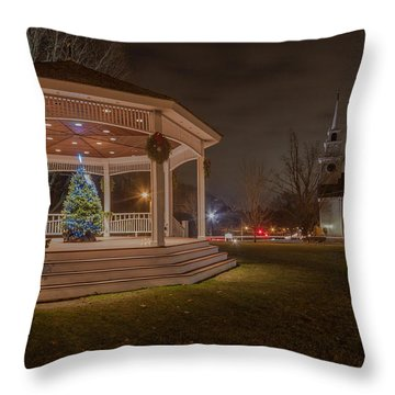Merry Christmas From Milton Massachuetts Throw Pillow