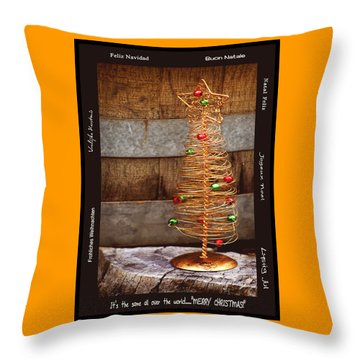 Merry Christmas Throw Pillow by Holly Kempe