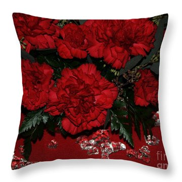 Merry Christmas Throw Pillow by Kathleen Struckle