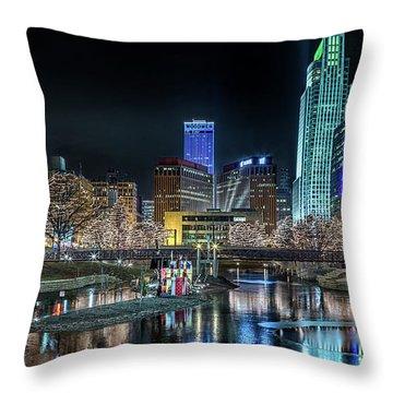 Merry Christmas Omaha Throw Pillow