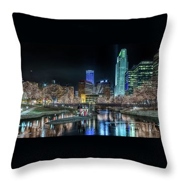 Merry Christmas Omaha Throw Pillow