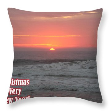 Merry Christmas Sunrise  Throw Pillow by Robert Banach