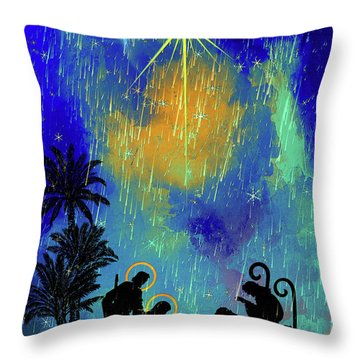 Merry Christmas To All. Throw Pillow