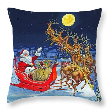 Merry Christmas To All Throw Pillow
