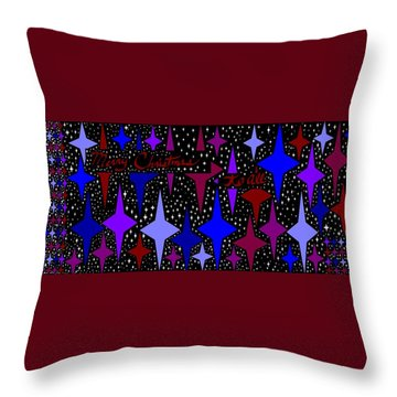 Merry Christmas To All, Starry, Starry Night Throw Pillow