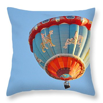Throw Pillow featuring the photograph Merry Go Round by AJ Schibig