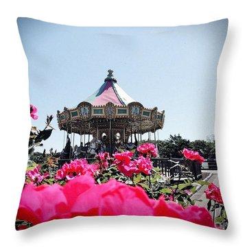 Merry-go-round Throw Pillow by Allen Beilschmidt