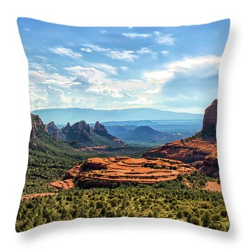 Merry Go Round Arch, Sedona, Arizona Throw Pillow