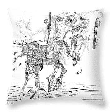 Merry-go-round Horse Throw Pillow