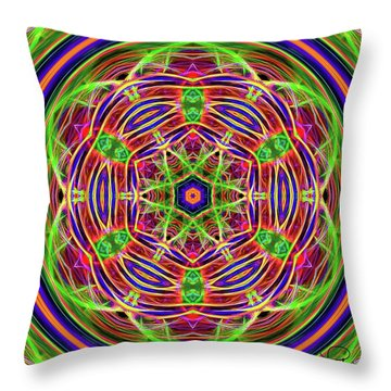 Merry-go-round Throw Pillow by Ludwig Keck