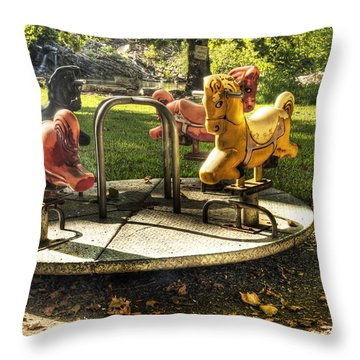 Throw Pillow featuring the photograph Merry-go-round by Tamyra Ayles