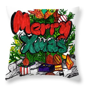 Merry Xmas Throw Pillow