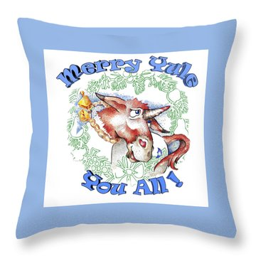 Real Fake News Merry Yule You All Throw Pillow